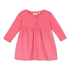 bluezoo - Baby girls' pink polka dot jersey dress