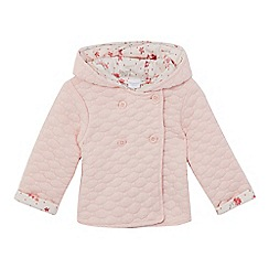 bluezoo - Baby girls' pink quilted coat