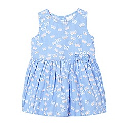 bluezoo - Baby girls' light blue butterfly dress