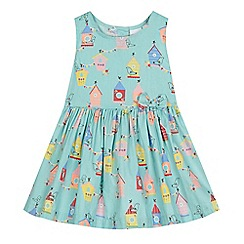 bluezoo - Baby girls' aqua house print dress