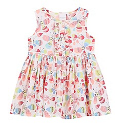 bluezoo - Girls' light pink butterfly woven dress