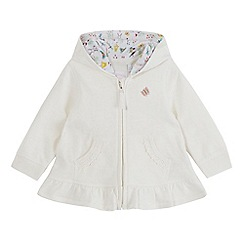 bluezoo - Baby girls' white crochet jacket