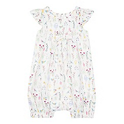 bluezoo - Baby girls' white spring print romper