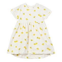 bluezoo - Baby girls' cream dandelion print dress