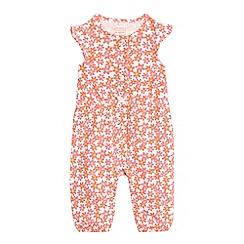 bluezoo - Baby girls' white floral playsuit