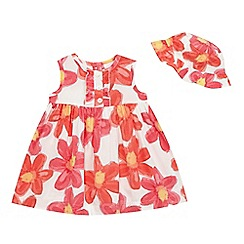 bluezoo - Baby girls' peach floral print dress