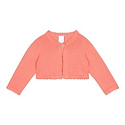 bluezoo - Baby girls' peach cardigan