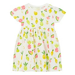 bluezoo - Baby girls' white fruit print dress