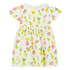 bluezoo - Baby girls' white fruit print dress