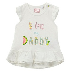 bluezoo - Baby girls' white 'I love my daddy' top