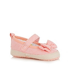 bluezoo - Baby girls' pink bow applique shoes