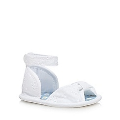bluezoo - Baby girls' white Broderie Anglaise sandals
