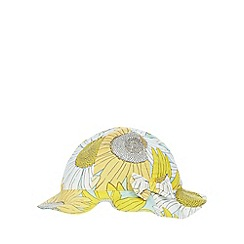 bluezoo - Baby girls' yellow sunflower print hat