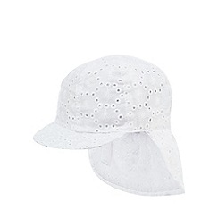bluezoo - Baby girls' white broderie hat