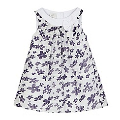 J by Jasper Conran - Baby girls' white ditsy print dress