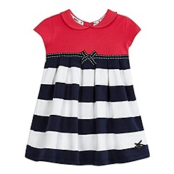 J by Jasper Conran - Baby girls' pink striped print dress