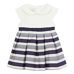 J by Jasper Conran - Baby girls' white striped dress