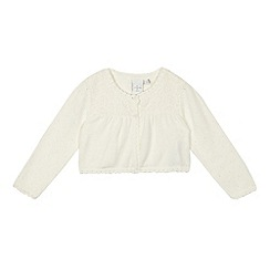 J by Jasper Conran - Baby girls' white broderie cardigan