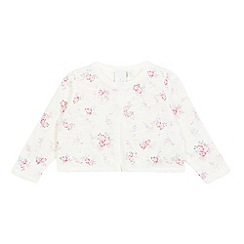 J by Jasper Conran - Baby girls' white floral cardigan