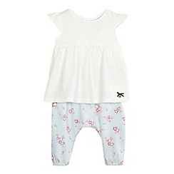J by Jasper Conran - Baby girls' white floral lace tunic and leggings set