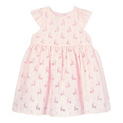 J by Jasper Conran - Girls' pink burnout bunny dress