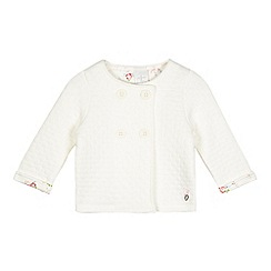 J by Jasper Conran - Baby girls' white quilted jacket