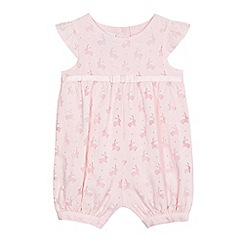 J by Jasper Conran - Baby girls' pink bunny burnout romper