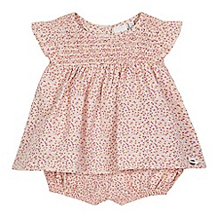 J by Jasper Conran - Baby girls' multi-coloured ditsy print tunic and bloomer set
