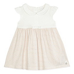 J by Jasper Conran - Baby girls' light pink sparkle striped dress
