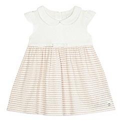 J by Jasper Conran - Baby girls' light pink sparkle striped dress