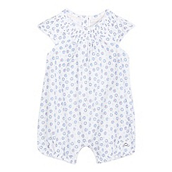 J by Jasper Conran - Baby girls' white floral print romper suit
