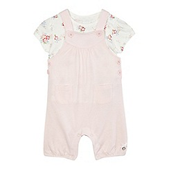 J by Jasper Conran - Baby girls' pink dungarees and t-shirt set