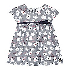 J by Jasper Conran - Baby girls' navy daisy print dress
