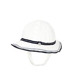 J by Jasper Conran - Baby girls' white striped hat
