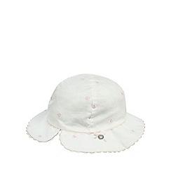 J by Jasper Conran - Baby girls' white textured spot hat