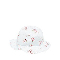 J by Jasper Conran - Baby girls' blue floral print hat