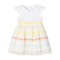J by Jasper Conran - Baby girls' multi-coloured stripe printed mockable dress