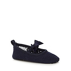 J by Jasper Conran - Baby girls' navy booties