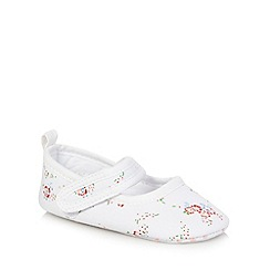 J by Jasper Conran - Baby girls' white floral print booties