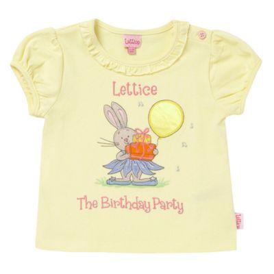 Babys yellow birthday bunny t-shirt