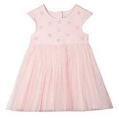 RJR.John Rocha - Baby girls' pink mesh dress