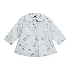 J by Jasper Conran - Baby girls' blue floral print mac coat