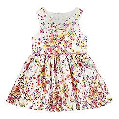 RJR.John Rocha - Baby girls' white sateen ditsy print dress