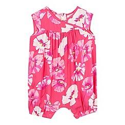 RJR.John Rocha - Baby girls' pink floral print romper suit