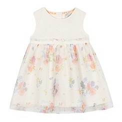 RJR.John Rocha - Baby girls' ivory floral print dress