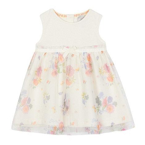 RJR.John Rocha - Baby girls+ ivory floral print dress