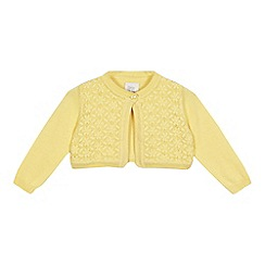 RJR.John Rocha - Baby girls' yellow Broderie Anglaise cardigan