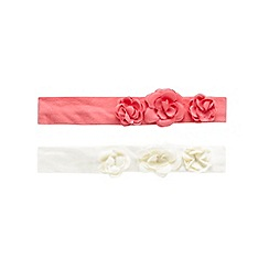 RJR.John Rocha - Pack of two baby girls' cream and pink flower applique headband