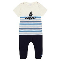 J by Jasper Conran - Baby boys' navy striped t-shirt and jogging bottoms set