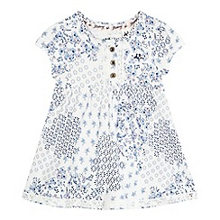 Mantaray - Baby girls' blue ditsy print dress